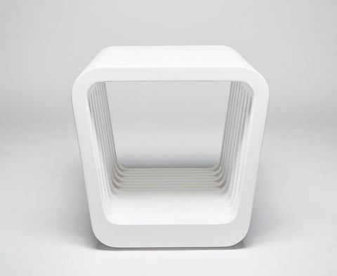 Link Table / Stool - White Lacquer