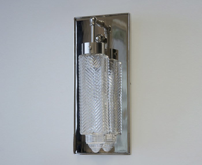 Chrysler Sconce - Nickel