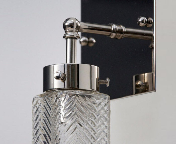 Chrysler Sconce - Square Nickel
