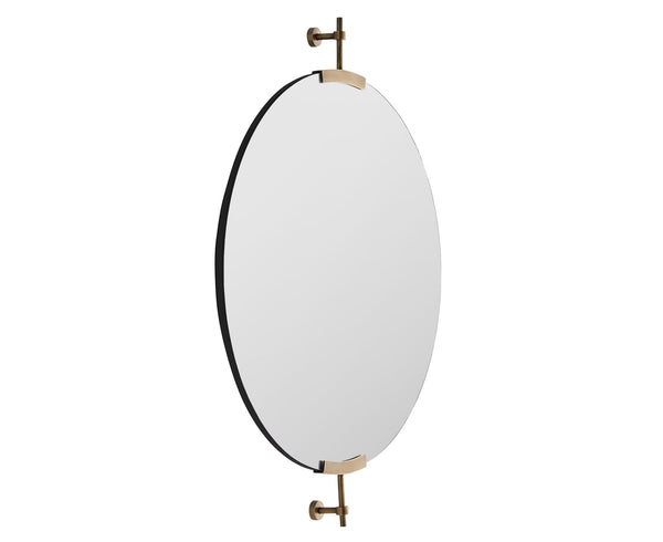 Antique Brass Round Mirror | DSHOP