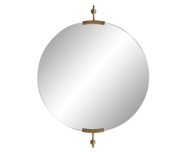 Madden Round Mirror - Antique Brass | DSHOP