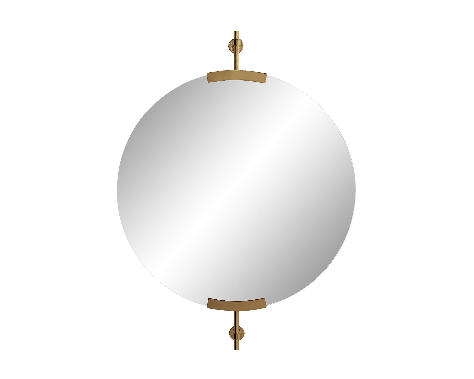 Madden Round Mirror - Antique Brass