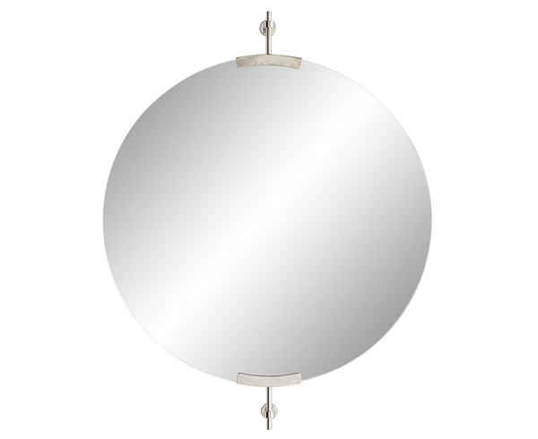 Madden Round Mirror - Polished Nickel | DSHOP