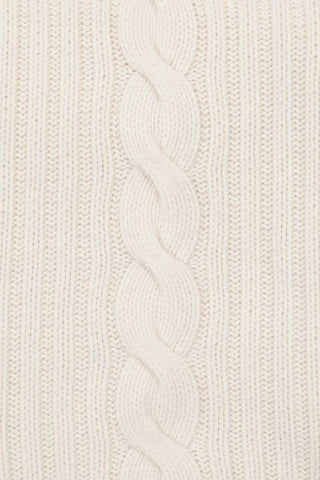 Roma Cable Knit Cashmere Throw - Ivory
