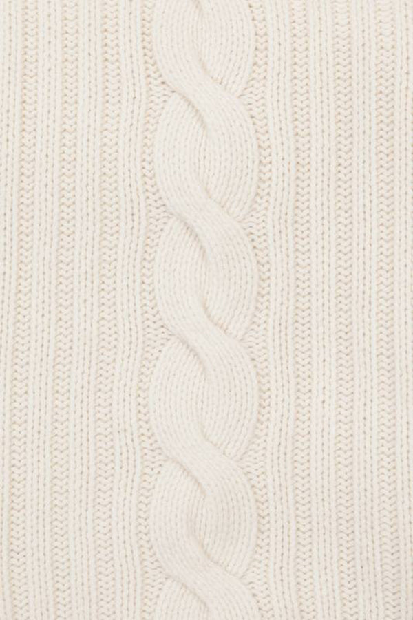 Cream Cable Knit Blanket