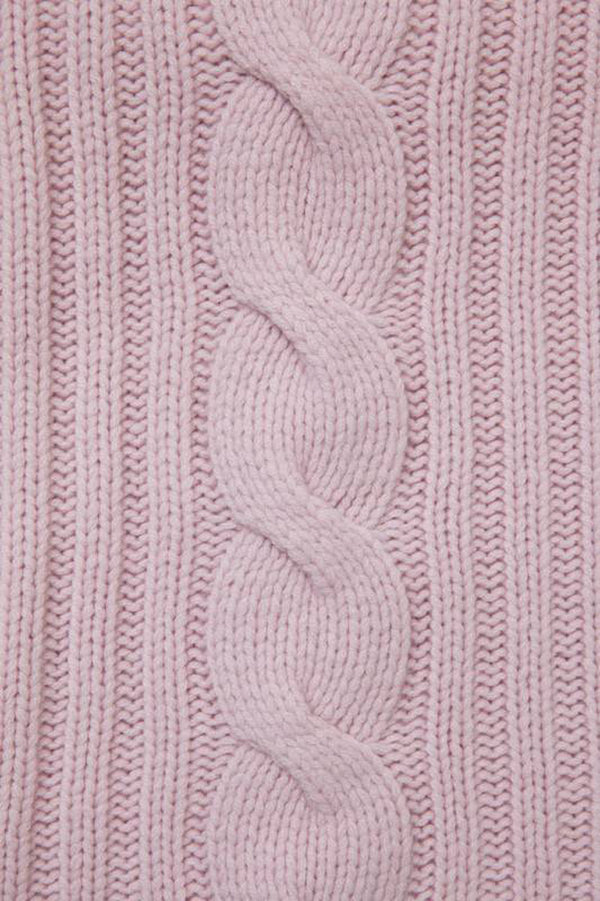 Pink Cabel Knit Throw | DSHOP
