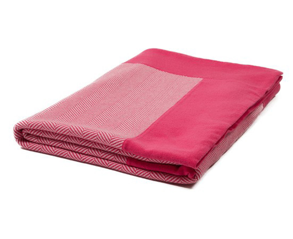 Herringbone Henry Cotton Throw - Pink | DSHOP