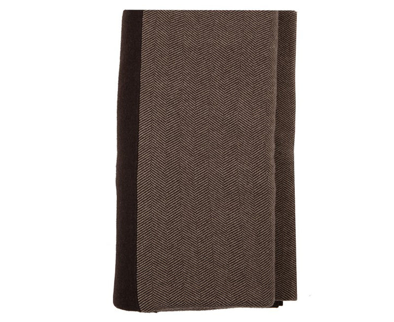 Henry Cashmere Blend Queen-King Blanket - Chocolate Taupe | DSHOP