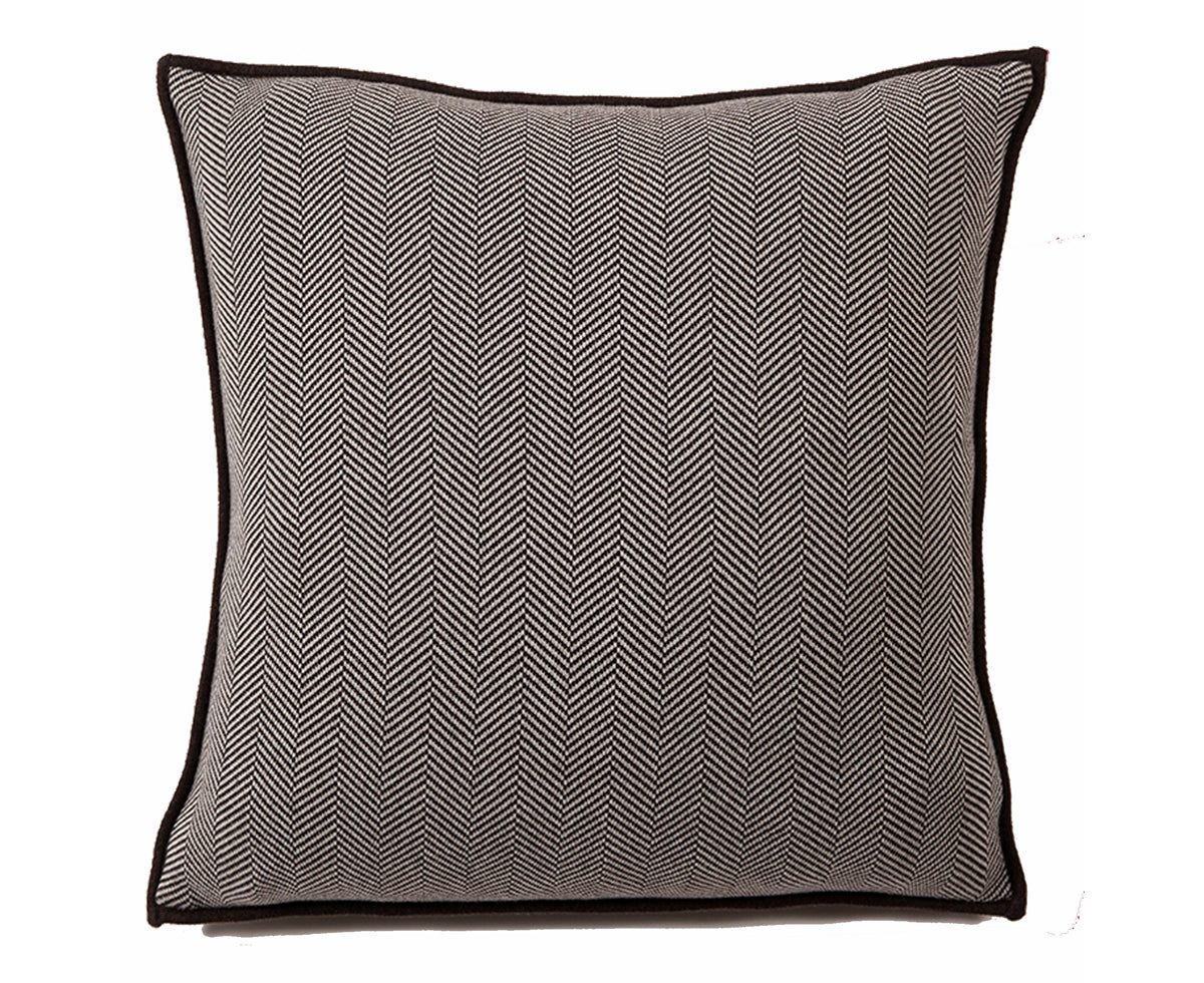Henry Cotton Pillow - Anthracite Beige