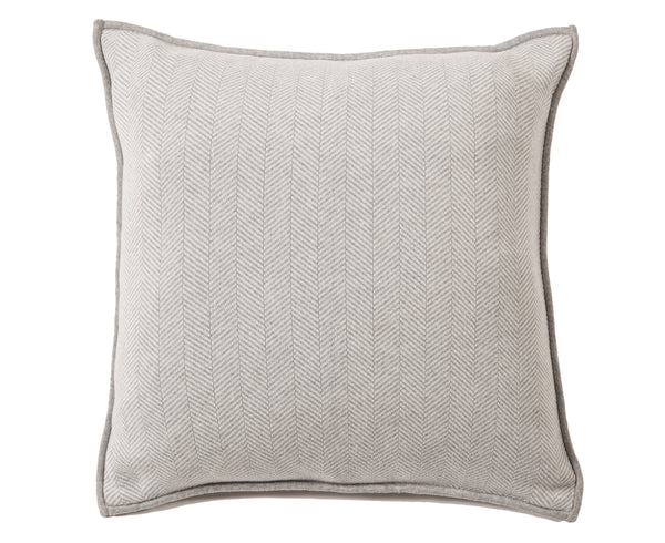 Rani Arabella Henry Cotton Pillow - Gray Ivory | DSHOP