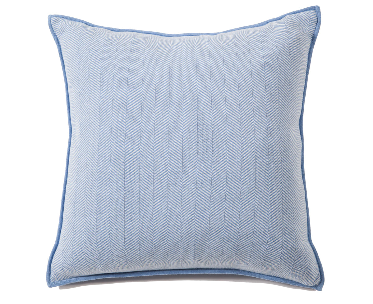 Henry Cotton Pillow - Indigo Ivory