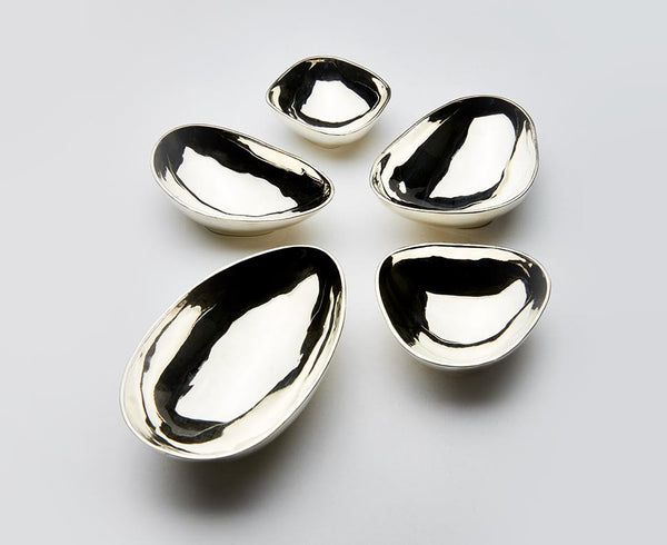 Pebble Bowls - Silver - Set of 5