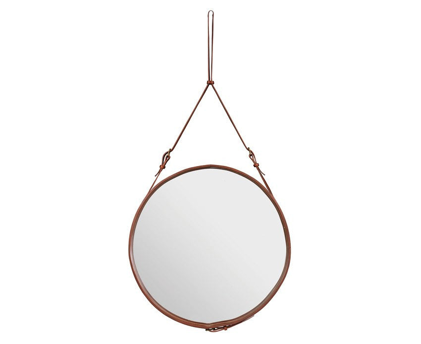 Adnet Circulaire Mirror - Tan by Jacques Adnet | DSHOP
