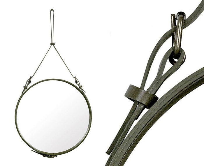 Gubi Adnet Circulaire Mirror - Olive Green