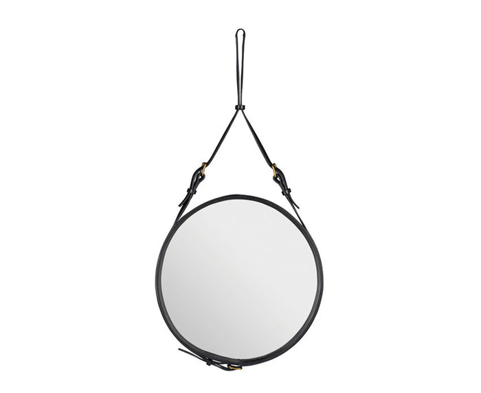 Adnet Circulaire Mirror - Black by Jacques Adnet