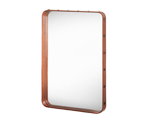 Adnet Rectangulaire Mirror - Tan