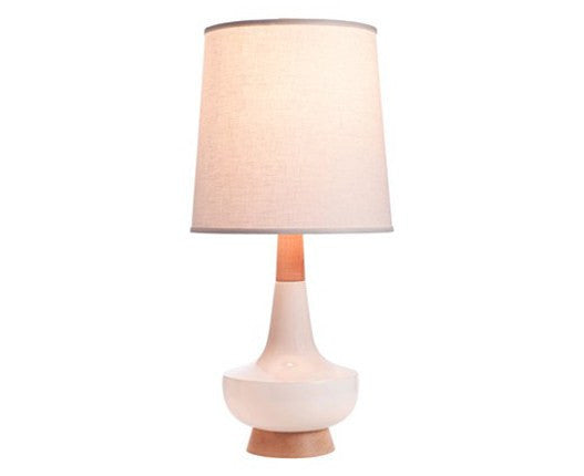 Alberta Table Lamp - White + Sugar Maple by Caravan Pacific