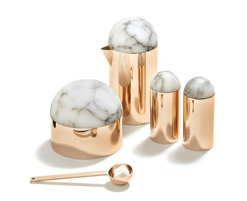 Amare Serving Set in Rose Gold