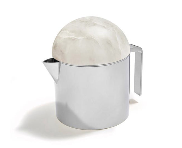 Amare Tea Pot in Stainless Steel & Alabaster | DSHOP