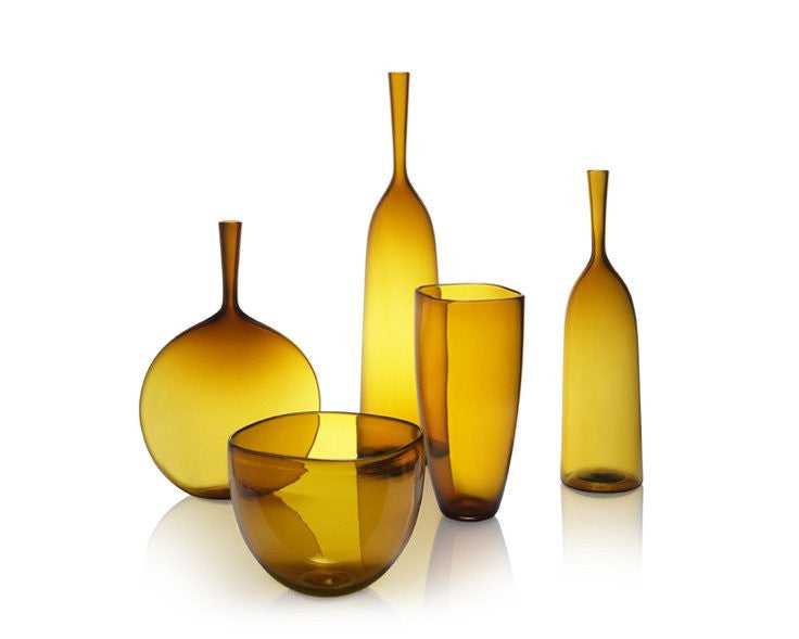 Joe Cariati Colored Glass Art - Amber Yellow