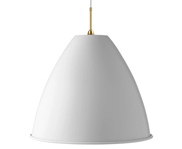Bestlite BL9XL Pendant Lighting | Matte White / Brass