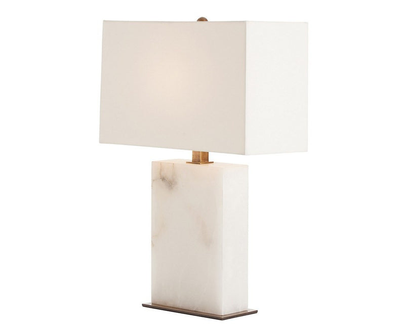 White Marble Carson Table Lamp