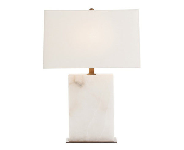 Carson Table Lamp - White Marble