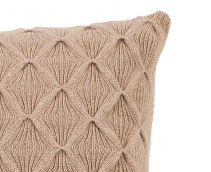 Cashmere Como Pillow - Taupe by Rani Arabella