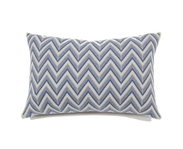 Dillon Cashmere Pillow - Denim, Ivory