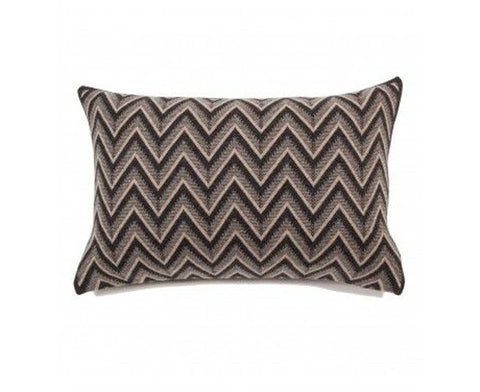 Dillon Cashmere Pillow - Anthracite & Beige