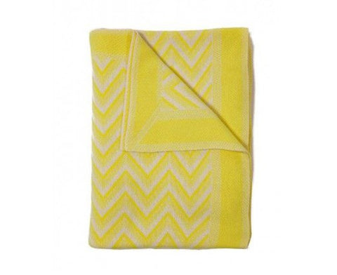 Cashmere Dillon Throw - Yellow