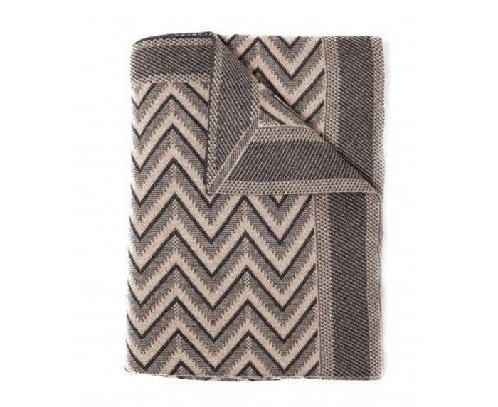 Cashmere Dillon Throw - Anthracite Beige