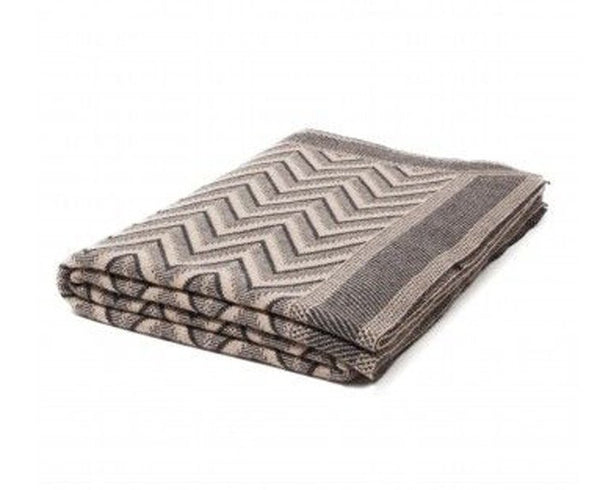 Cashmere Dillon Throw - Anthracite Beige | DSHOP