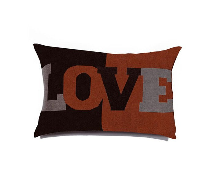 Cashmere Love Pillow in Brown Burnt