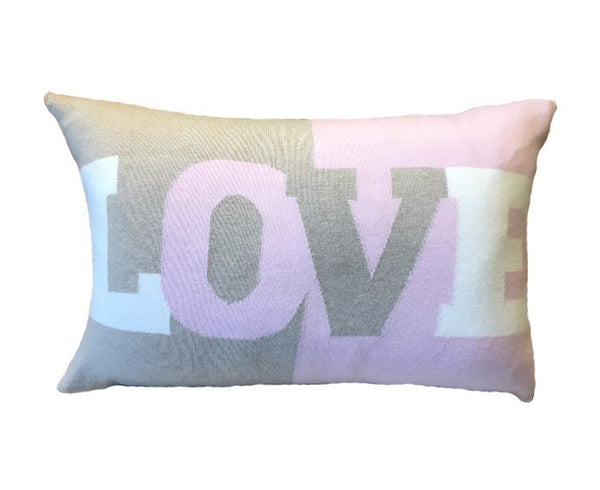 Cashmere Love Pillow - Pink, Ivory, Taupe