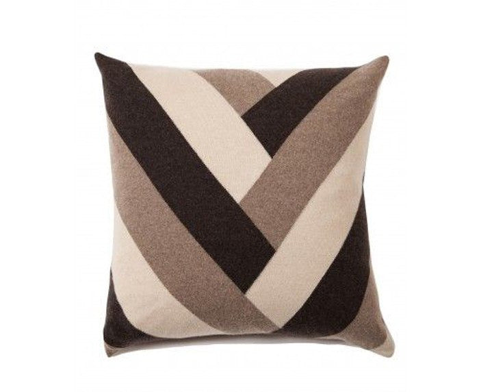 Cashmere V Pillow - Chocolate