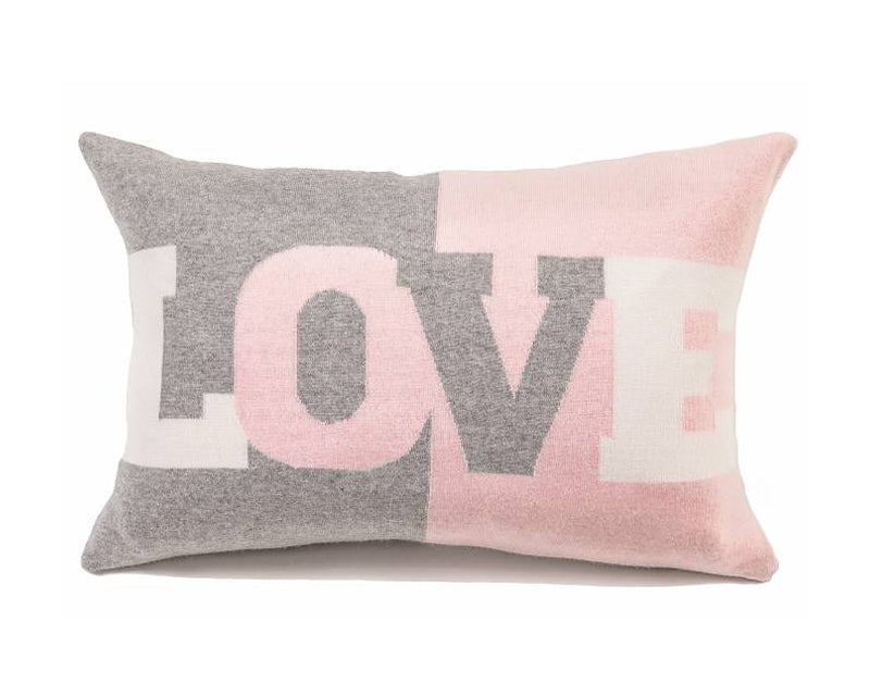 Cashmere Love Pillow Silver Pink By Rani Arabella Dshop