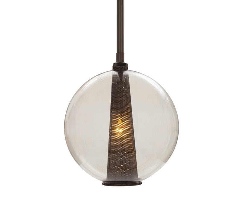 Caviar Pendant - Smoke Glass by Laura Kirar