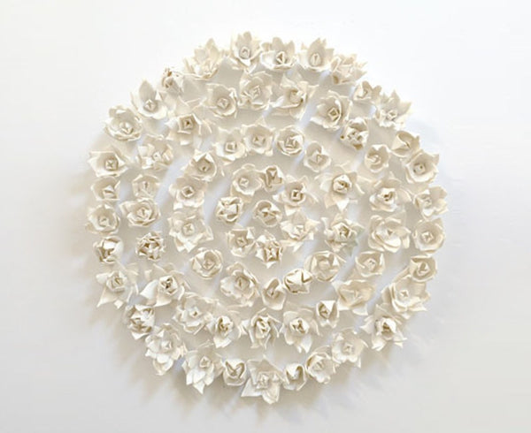 Porcelain Wall Art - Flowers In The Round