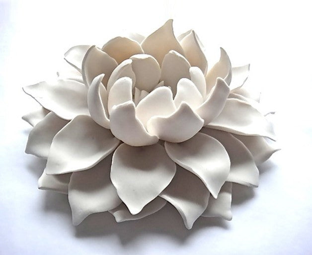 Porcelain Lotus Flower by Syra Gomez