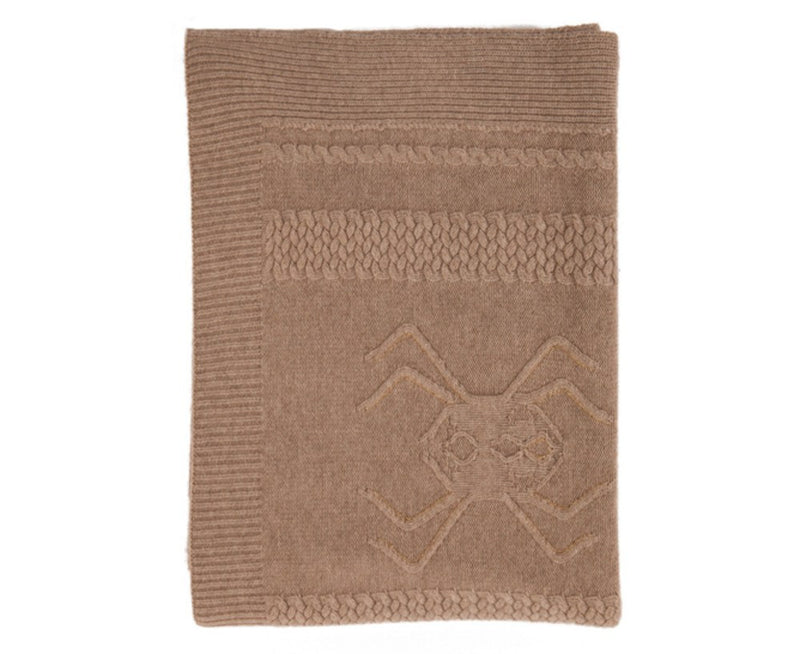 Aranea Cashmere Throw - Taupe