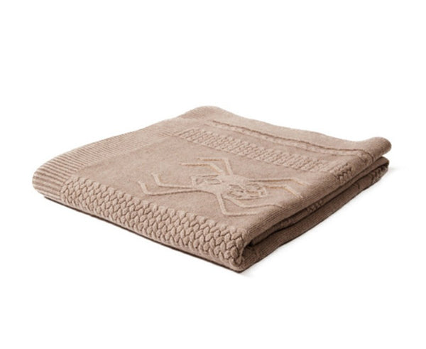 Aranea Cashmere Throw - Taupe by Rani Arabella