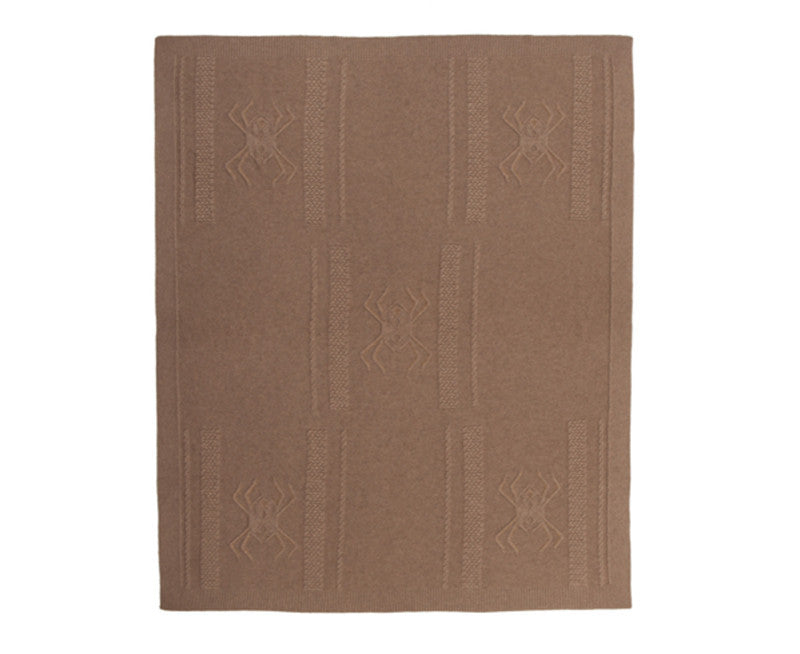 Rani Arabella Aranea Cashmere Throw - Taupe