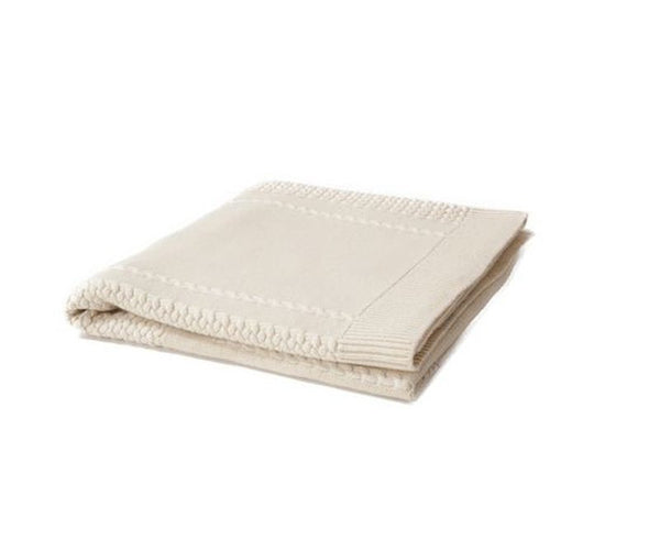 Aranea Cashmere Throw - Ivory by Rani Arabella