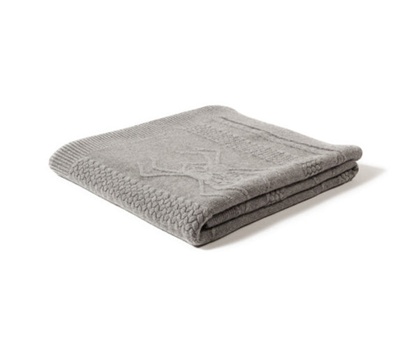 Aranea Cashmere Throw - Gray by Rani Arabella
