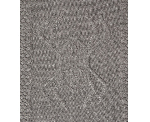 Aranea Cashmere Throw - Gray