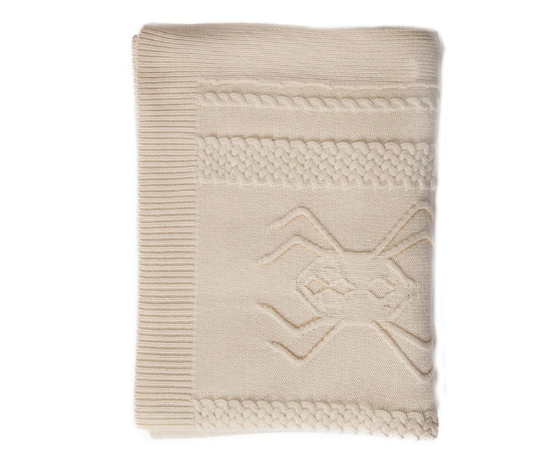 Aranea Cashmere Throw - Ivory