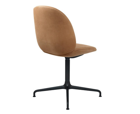 Beetle Dining Chair - Upholstered - Casted Swivel Base