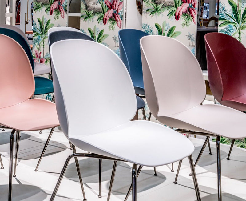 Beetle Dining Chairs - Conic Legs