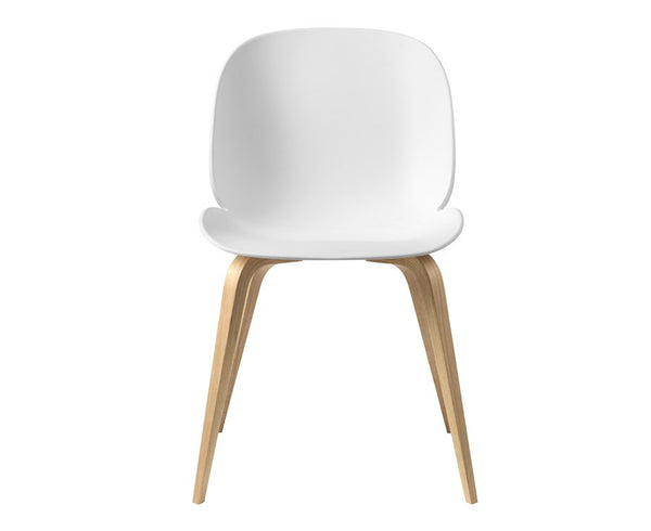 White Beetle Dining Chair - Wood Legs | DSHOP